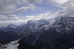 View of Eiger, Moench, Jungfrau from Schilthorn Stock Photography