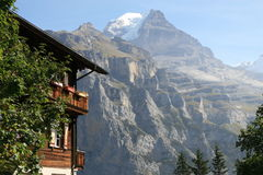 View of Eiger from Murren Switzerland Royalty Free Stock Images