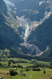 View of the eiger valley. View from bort to grindelwald Stock Images
