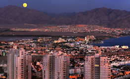 View on Eilat and Aqaba and Red Sea Stock Images