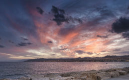 View on Eilat city and  Red Sea from the central pier Royalty Free Stock Photography