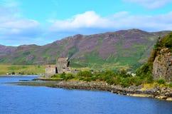 Eilean Donan Castle, Dornie, Scotland. A view of Eilean Donan Castle at Dornie, Scotland Stock Images