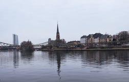 View of Eiserner Steg bridge Stock Photos