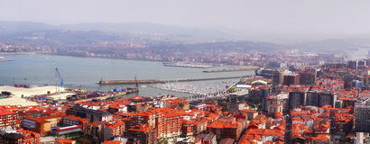 View of El Abra of Bilbao from Serantes Stock Images