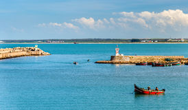 View of El Jadida Port in Morocco. View of Port of El Jadida in Morocco Stock Photo