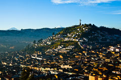 View of El Panecillo. In the center of Quito with the Cotopaxi in the background Stock Photography
