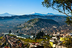 View of El Panecillo. In the center of Quito with the Cotopaxi in the background Royalty Free Stock Photography