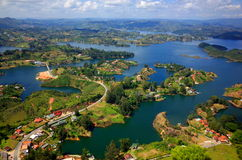 The view from El Penon de Guatape Stock Photo