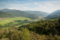 View of El Pla de Sant Tirs in Spanish Pyrenees Royalty Free Stock Image