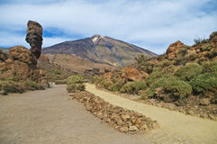 View of el teide national park Royalty Free Stock Image