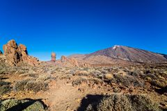 View on el Teide volcano on Tenerife. Stock Images
