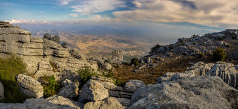 View from El Torcal de Antequera Stock Photo