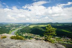 The view of the Elbe Royalty Free Stock Image