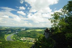 The view of the Elbe Royalty Free Stock Images