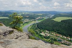 The view of the Elbe Royalty Free Stock Photo