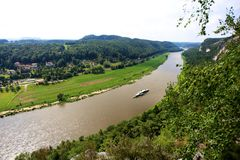 View on Elbe from Bastai, Rathen Royalty Free Stock Images