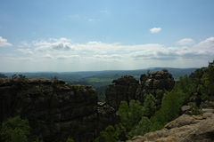 View on Elbe Sandstone Mountains Stock Images
