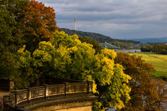 View of the Elbe valley from Albrechtsberg Palace Royalty Free Stock Images