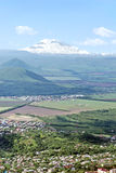 View on Elbrus. View on Elbrus summit of Mount Mashuk stock photography