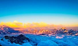 View from elbrus. 4100hight nridge royalty free stock image