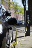 View of an Electric Car Charging Column Stock Image
