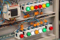 Electric distribution box. View of the electric distribution box Stock Photography
