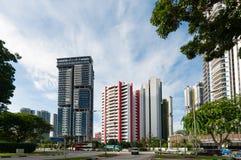 View of the elegant condominiums in Singapore Stock Image