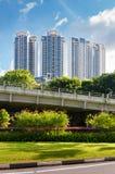 View of the elegant condominiums in Singapore Stock Photo