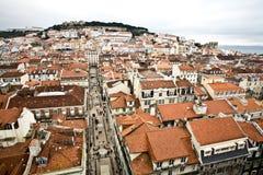 View from Elevador de Santa Justa Stock Photography