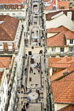View from the Elevador de Santa Justa  to the old part of Lisbon Royalty Free Stock Photography