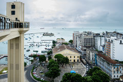 View from Elevator Lacerda in Salvador deBahia/Brazil Royalty Free Stock Photos