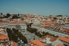 View from the top of Lisbon, Portugal royalty free stock photo