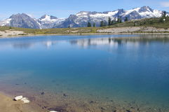 View of Elfin Lakes Stock Photo