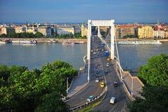 View of Elisabeth bridge in Budapest city Stock Photo