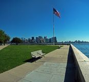 View from ellis island Stock Photo