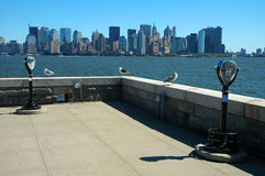 View from ellis island Royalty Free Stock Photos