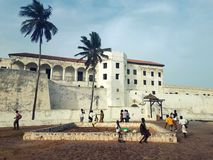 View at Elmina Castle, Ghana stock photos