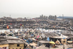 View of Elmina in Ghana stock images