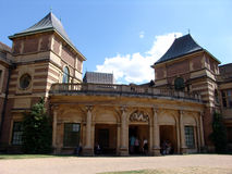 View of Eltham Palace front entrance. In Eltham, London, England royalty free stock image