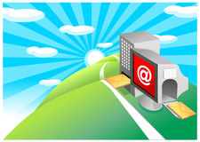 The view of Email input Royalty Free Stock Photo