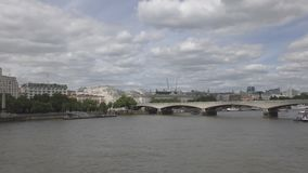 View of the embankment and the bridge. stock footage