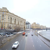 View of the embankment in the center of Moscow Stock Images