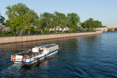 View of the embankment the city Sankt-Peterburg in summer day Royalty Free Stock Image
