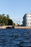 View of the embankment the city Sankt-Peterburg in summer day Stock Photography