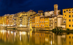 View of embankment in Florence Royalty Free Stock Image
