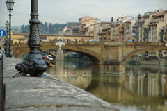 The view of the embankment of Florence Royalty Free Stock Photo