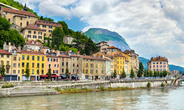 View of the embankment in Grenoble Stock Images
