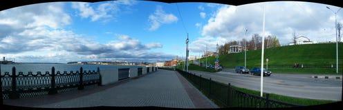 View of the embankment  the Izhevsk Stock Photo