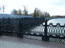 View of the embankment  the Izhevsk Royalty Free Stock Image