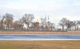 View of Embankment Neva River. Stock Photos